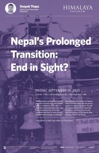 Nepal's Prolonged Transition event poster